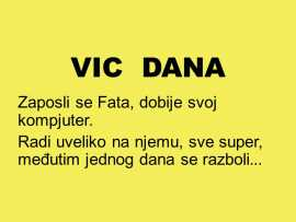 VIC DANA:  Wellcome