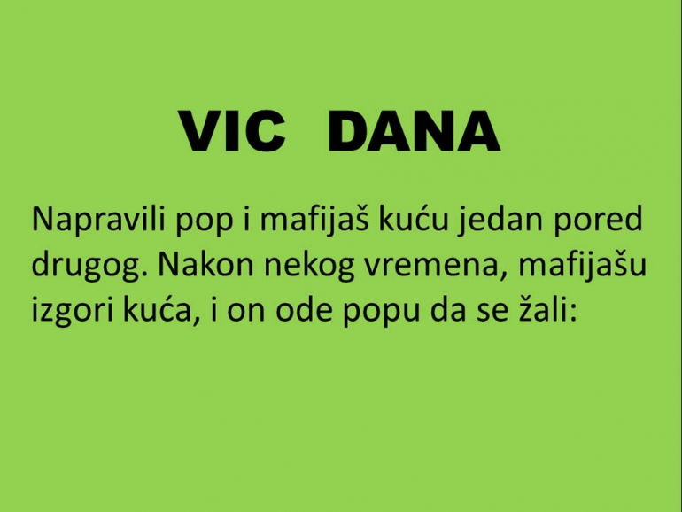 VIC  DANA: Pop i mafijaš